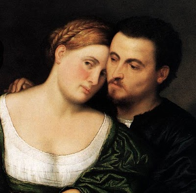 (Detail from The Venetian Lovers by Paris Bordone)