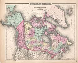 old canadian map