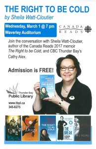 TBPL Canada Reads poster with Sheila Watt-Cloutier
