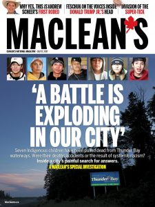 Maclean's Cover with the Thunder Bay article
