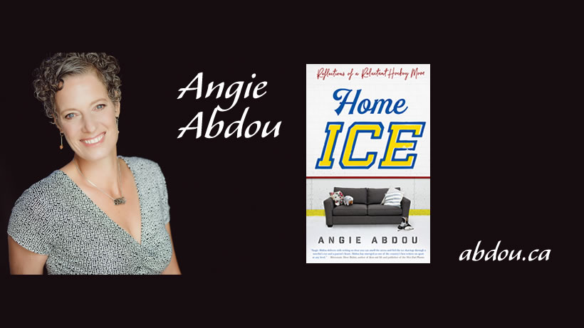 angie abdou with home ice
