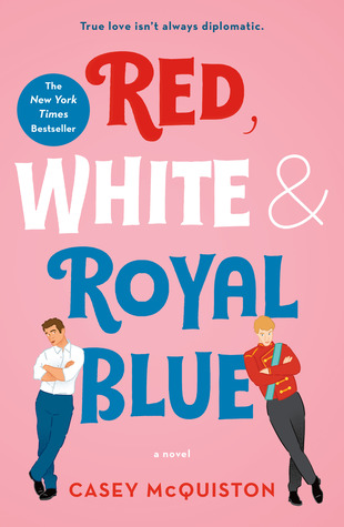 red, white and royal blue cover