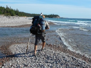 Michael Haynes hiking Pukaskwa