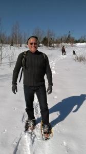 Michael Haynes snowshoeing