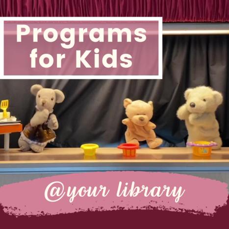 Programs for Kids header