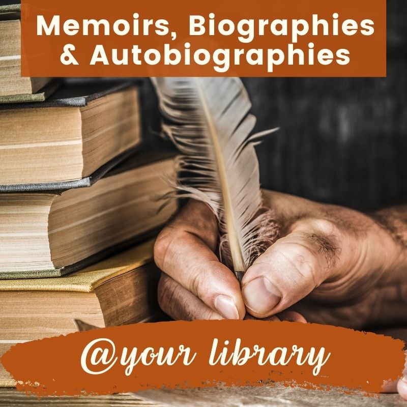 memoirs, biographies and autobiographies banner